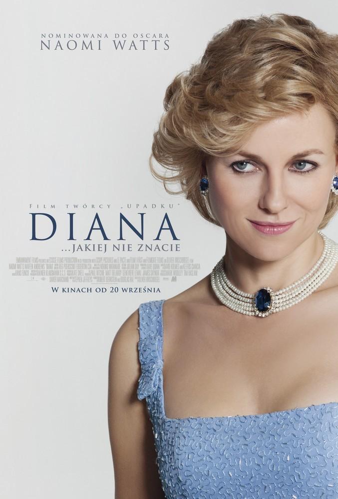 Naomi Watts w roli księżnej Diany, plakat (źródło: materiały prasowe organizatora)
