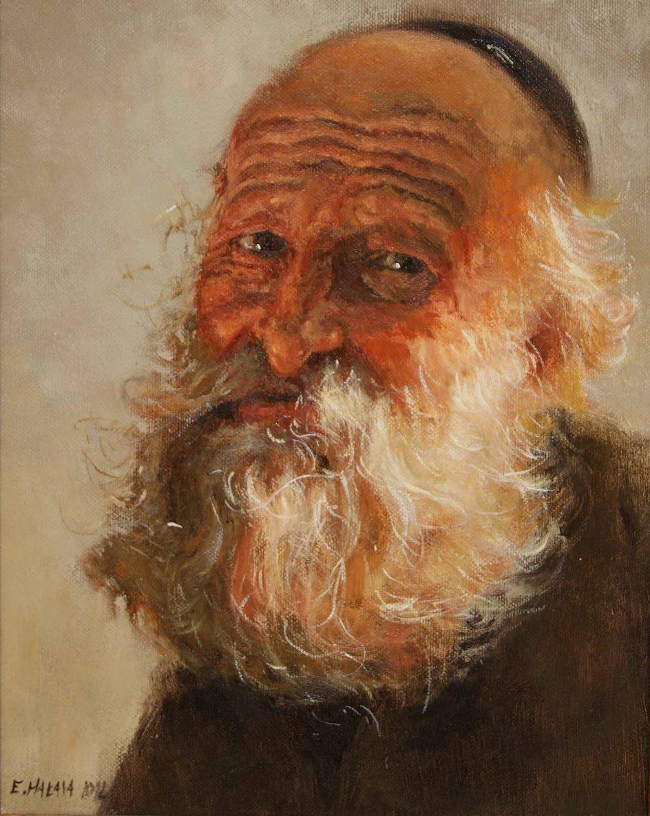 """E. Hałasa """"Żyd"""", fot. Janusz Zimon, BWA Galeria Zamojska (źródło: materiały prasowe)"""