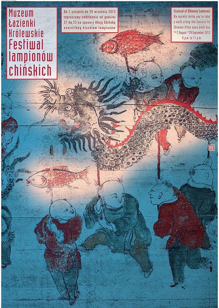 Festiwal Lampionów Chińskich, Muzeum Łazienki Królewskie w Warszawie – plakat (źródło: materiały prasowe)