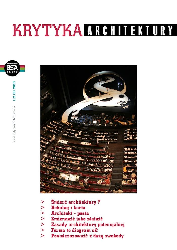 """Okładka cyfrowego kwartalnika """"Krytyka Architektury"""" (źródło: materiały prasowe organizatora)"""
