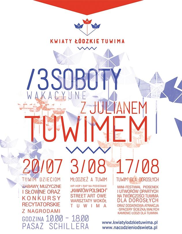 """""""Kwiaty Łódzkie Tuwima"""" – plakat (źródło: materiały prasowe)"""