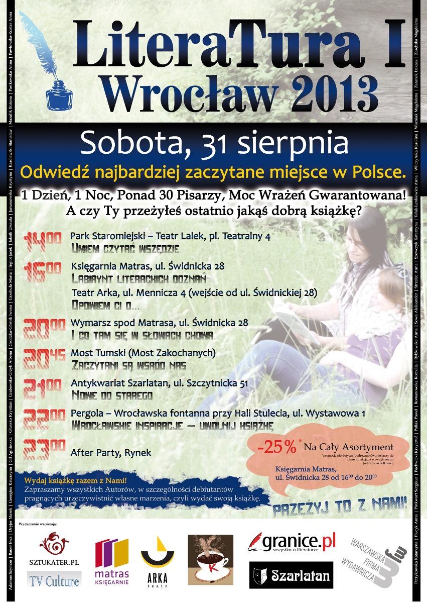 """""""LiteraTura I Wrocław 2013"""" – plakat (źródło: materiały prasowe)"""