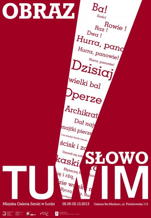 """""""Obraz. Słowo. Tuwim"""" – plakat (źródło: materiały prasowe)"""