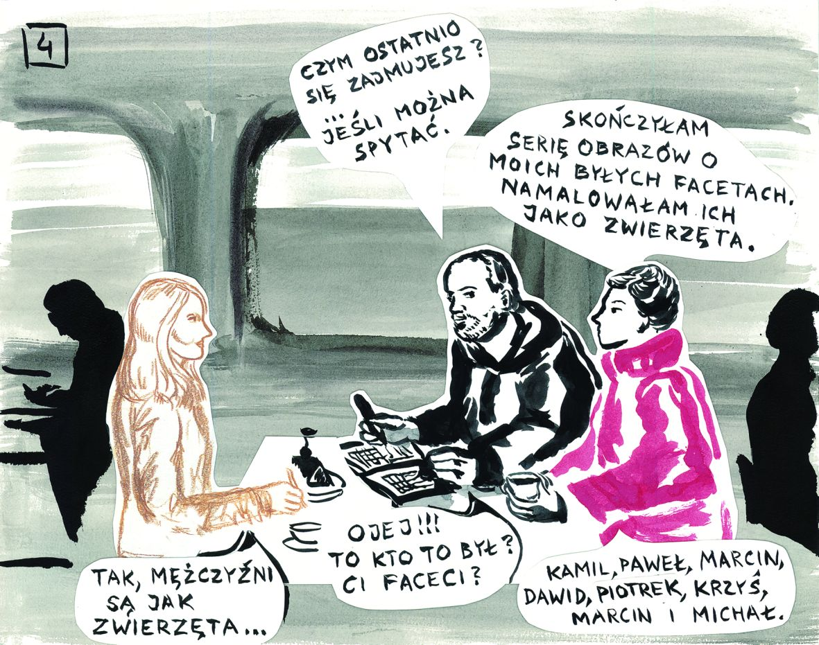 """Pola Dwurnik """"Egzamin u Artura"""", wystawa """"Dzień jest za krótki (Kilka opowieści autobiograficznych)"""", Muzeum Współczesne Wrocław (źródło: materiały prasowe)"""
