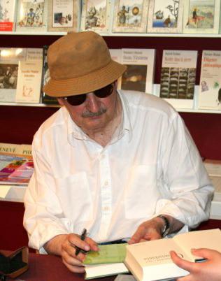 Sławomir Mrożek, 2006 r., Autor: Michał Kobyliński (źródło: Wikipedia. Wolna Encyklopedia. Zdjęcie na licencji Creative Commons)