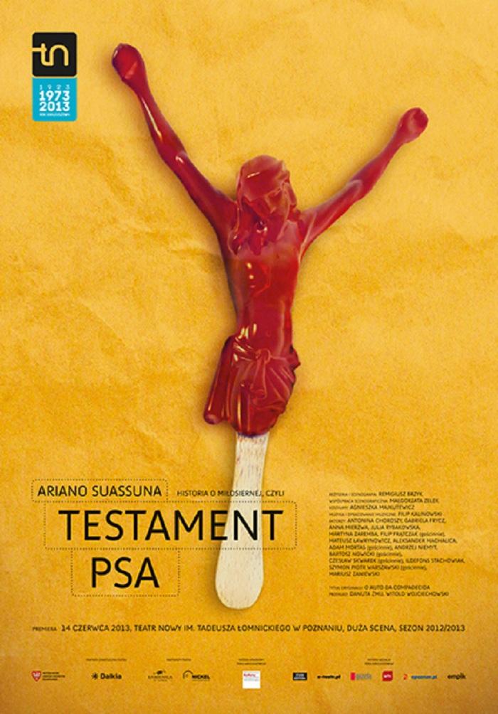 """""""Historia o miłosiernej, czyli Testament Psa"""", plakat (źródło: mat. prasowe)"""