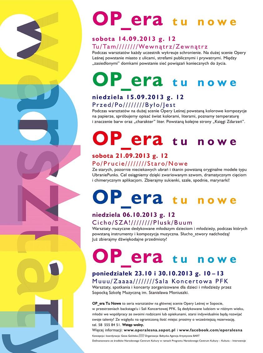 OP_era tu nowe, plakat (źródło: mat. prasowe)