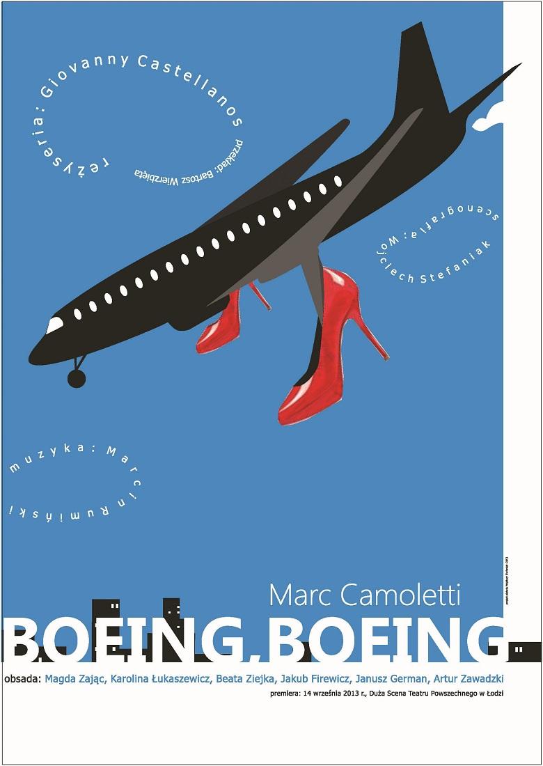 """""""Boeing Boeing"""", plakat (źródło: mat. prasowe)"""