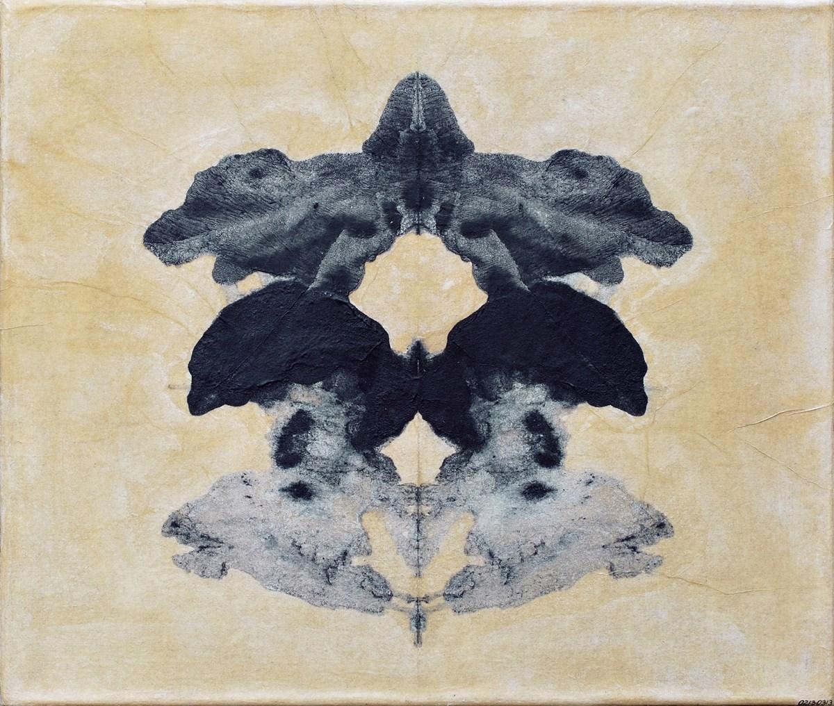 """Agnieszka Piotrowska, """"02130313"""", 34 x 40 cm, preparaty medyczne na płótnie, 2013 (źródło: materiały prasowe organizatora)"""