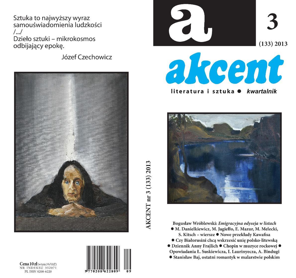 """""""Akcent"""", nr 3, 2013 – okładka (źródło: materiały prasowe)"""