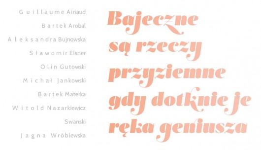 """Wystawa """"Bajeczne są rzeczy przyziemne, gdy dotknie je ręka geniusza"""", Galeria Kordegarda w Warszawie, plakat (źródło: materiały prasowe organizatora)"""