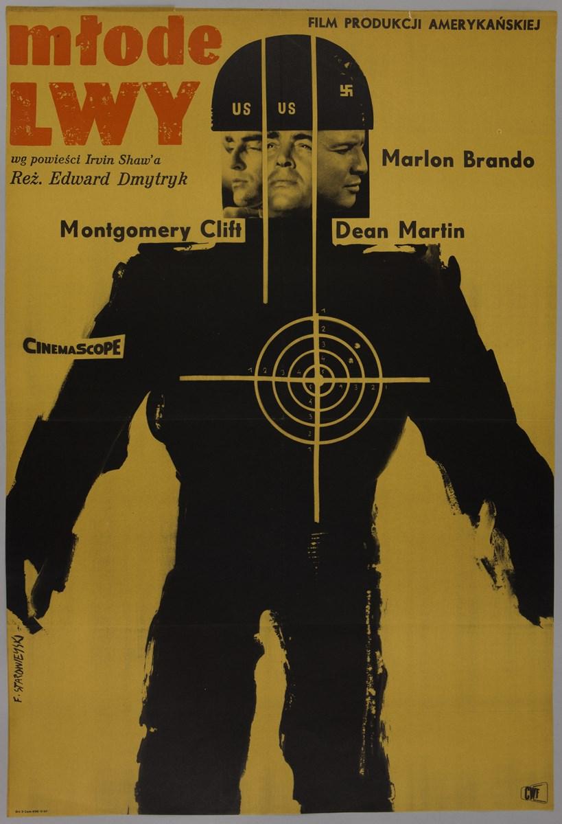 """""""Młode lwy"""". Film produkcji amerykańskiej, 1961, 84,5 x 58, offset, papier. Starowieyski, Franciszek (1930-2009), Warszawa (źródło: materiały prasowe organizatora)"""