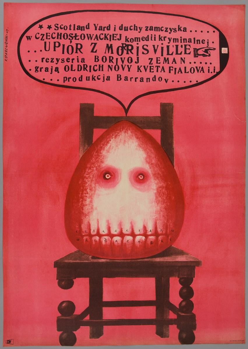 """""""Upiór z Morrisville"""", 1969, 82,5 x 58,2, offset, papier. Starowieyski, Franciszek (1930-2009), Warszawa (źródło: materiały prasowe organizatora)"""