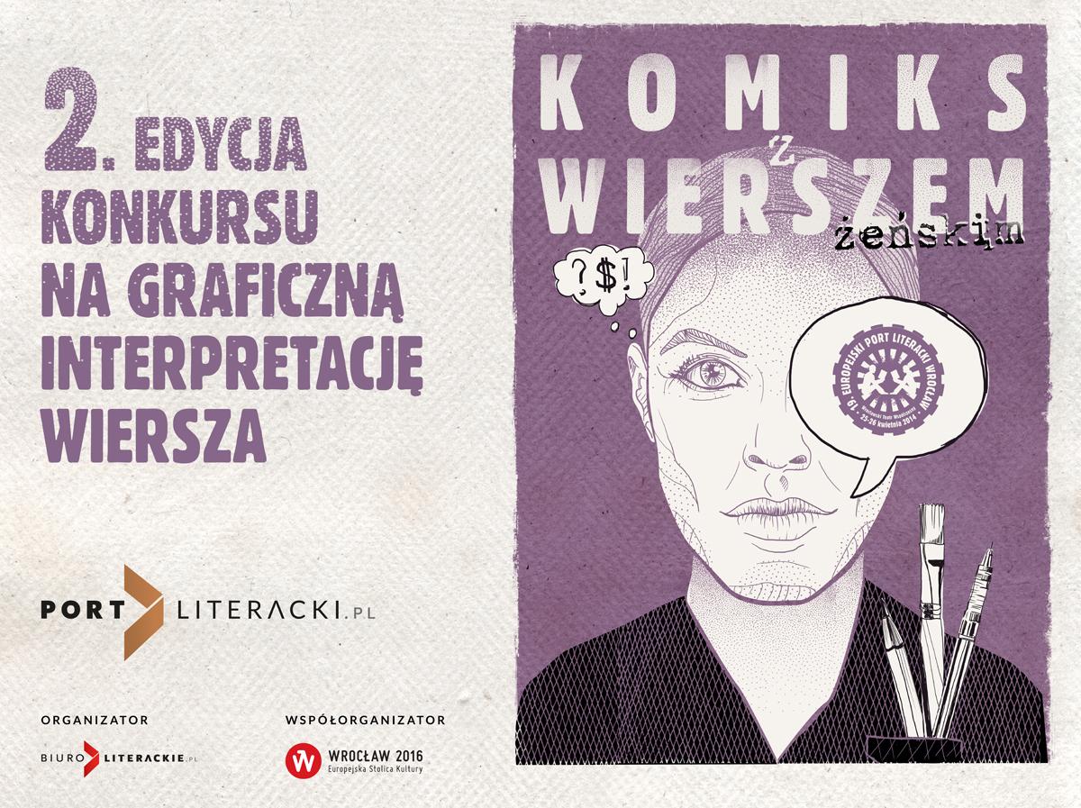 """""""Komiks wierszem w trybie żeńskim"""" – baner (źródło: materiały prasowe)"""