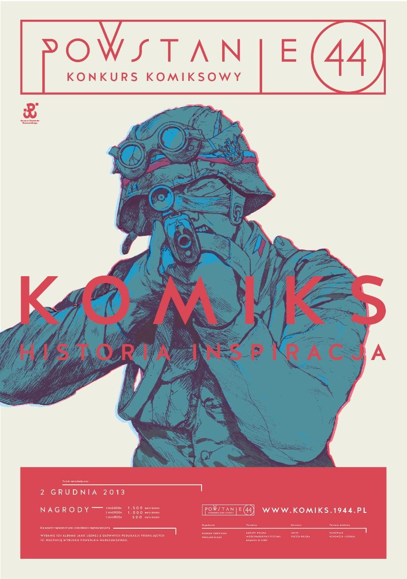 Konkurs na pełnometrażowy komiks o Powstaniu Warszawskim – plakat (źródło: materiały prasowe)