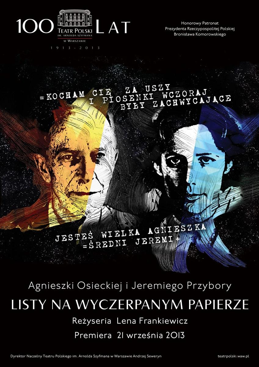 """""""Listy na wyczerpanym papierze"""", plakat (źródło: mat. prasowe)"""