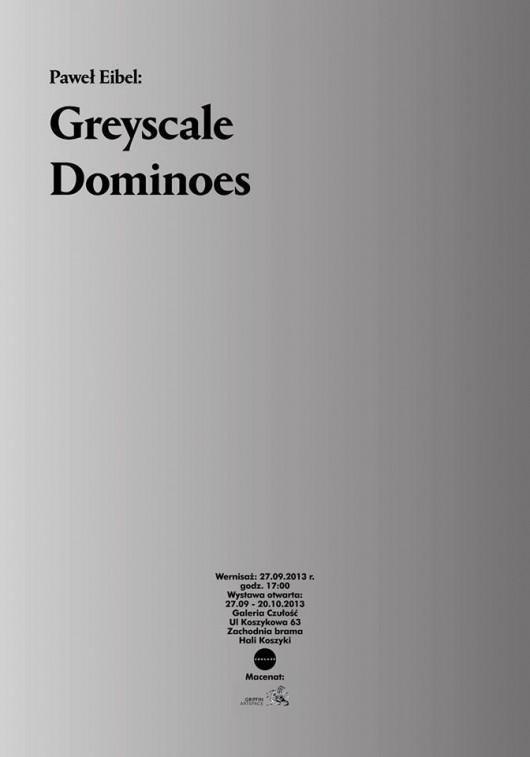 """Paweł Eibel, """"Greyscale dominoes"""" (źródło: materiały prasowe organizatora)"""