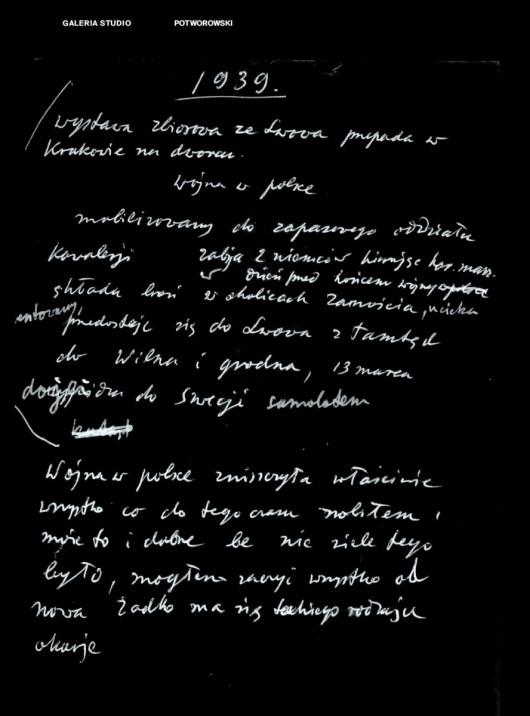 Rękopis Piotra Potworowskiego (źródło: materiały prasowe organizatora)