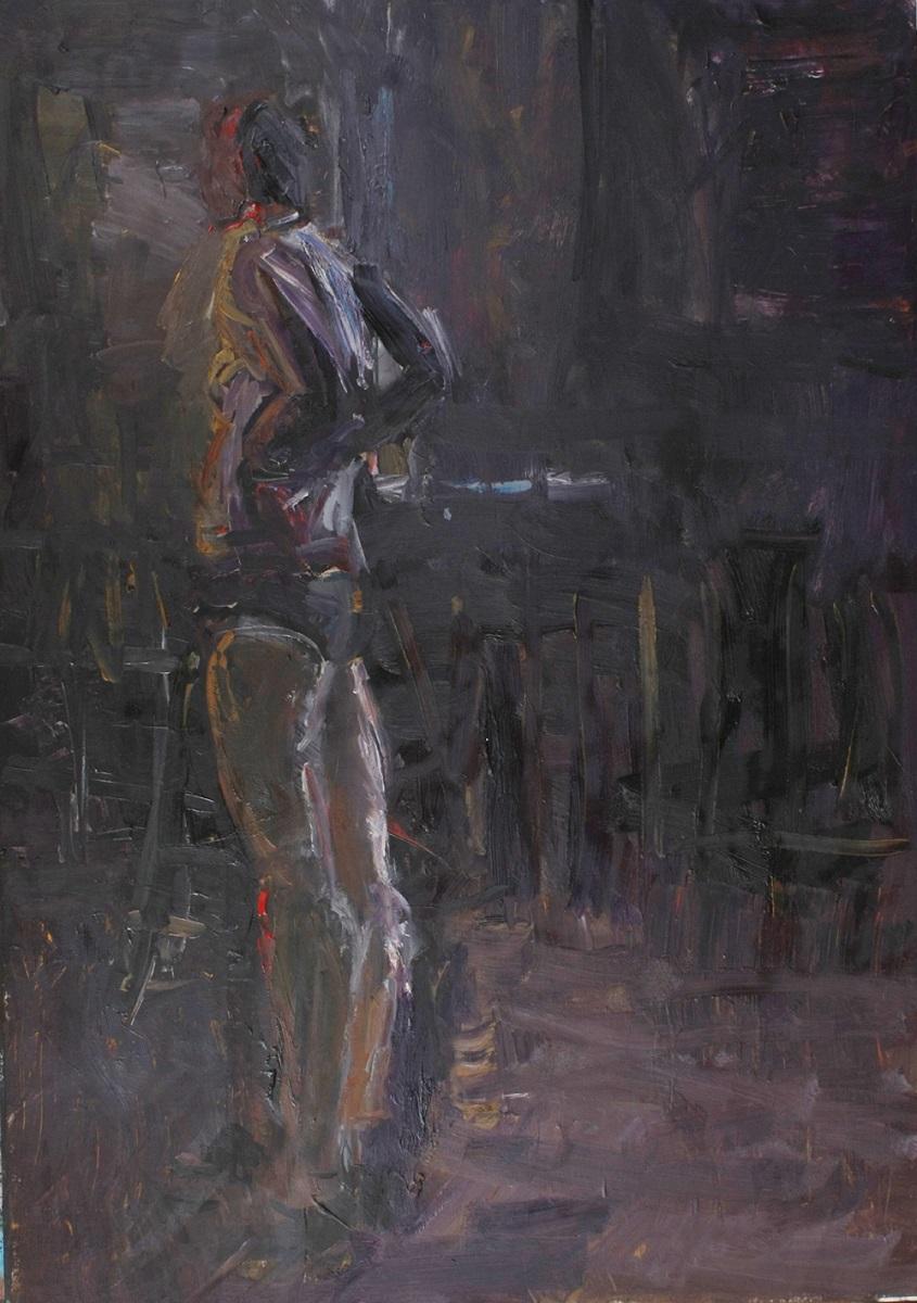 Radosław Bakanow, Bez tytułu, olej, papier, 100 x 70 cm, fot. R. Bakanow (źródło: materiały prasowe organizatora)
