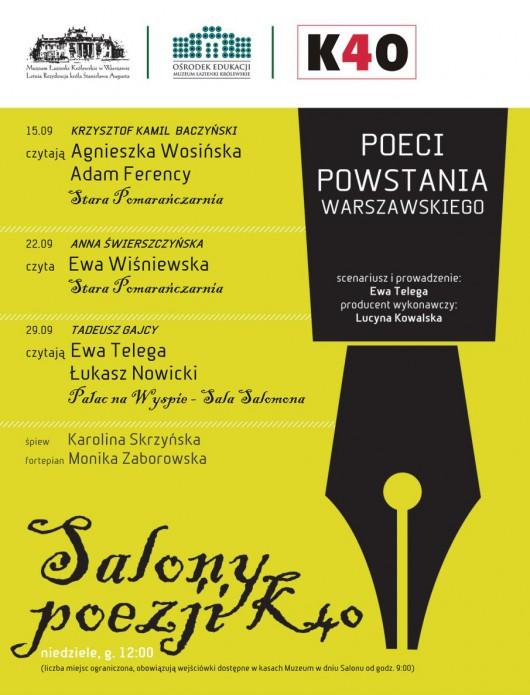 """""""Salony Poezji"""" – plakat (źródło: materiały prasowe)"""