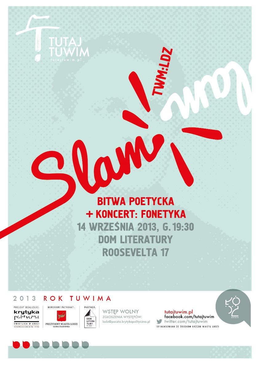"""Slam poetycki """"TWM:LDZ"""" – plakat (źródło: materiały prasowe)"""
