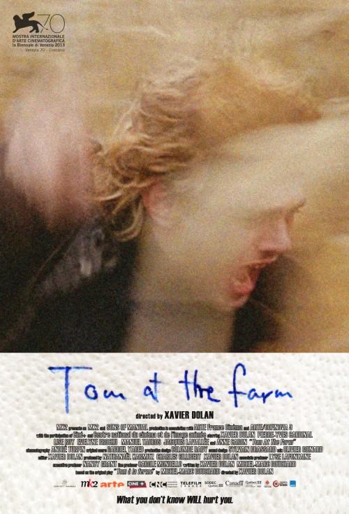 """Plakat filmu """"Tom at the Farm"""", reż. Xavier Dolan (źródło: materiały prasowe dystrybutora)"""