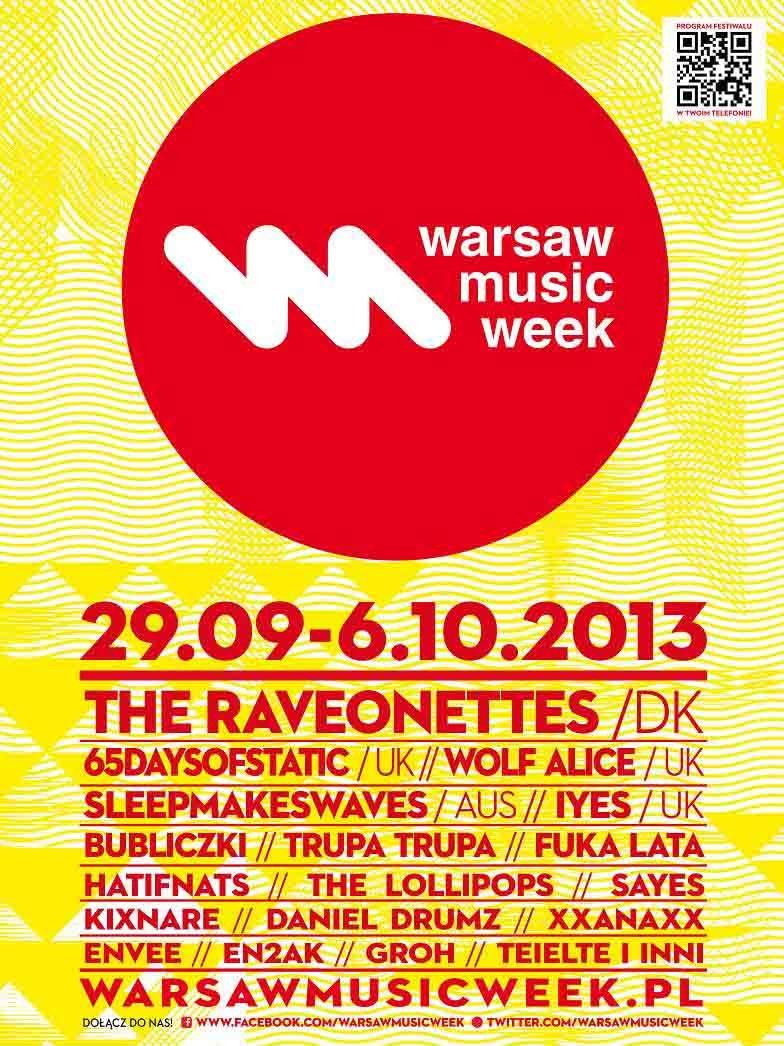 Warsaw Music Week, plakat (źródło: mat. prasowe)