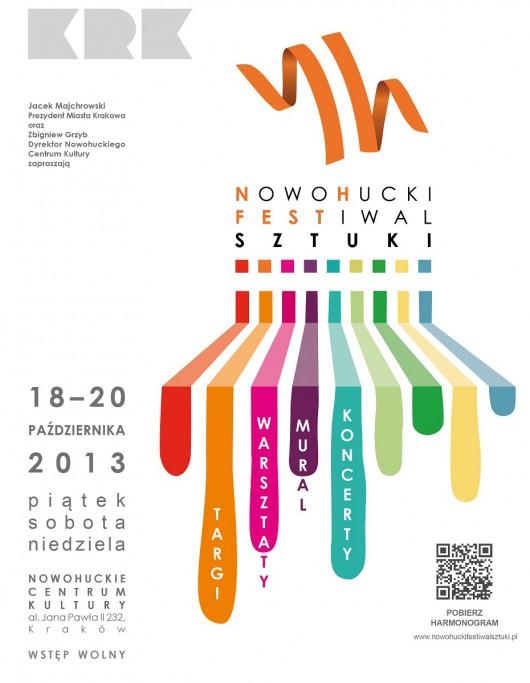 1. Nowohucki Festiwal Sztuki, plakat (źródło: materiały prasowe organizatora)