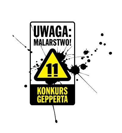 """11. Konkurs Gepperta """"Uwaga, malarstwo!"""", logo (źródło: materiały prasowe organizatora)"""