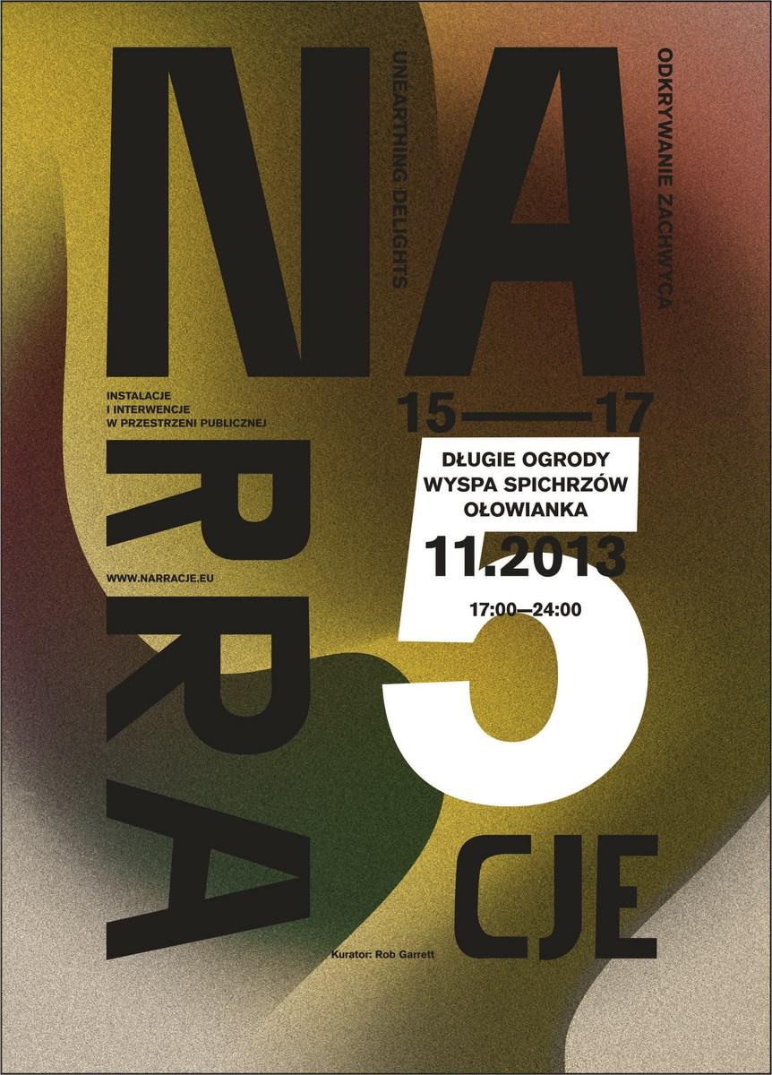 5. Festiwal Narracje w Gdańsku, plakat (źródło: materiały prasowe organizatora)