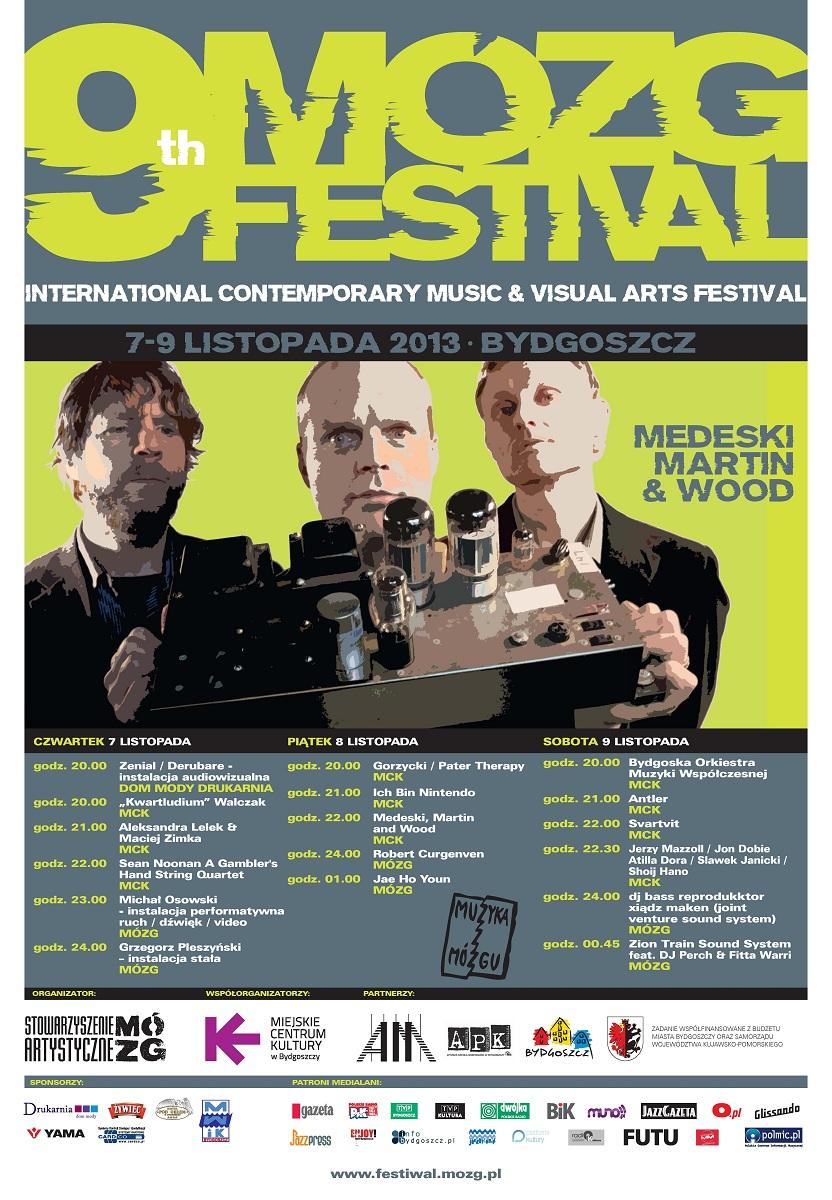 9th Mózg Festival, plakat (źródło: mat. organizatora)