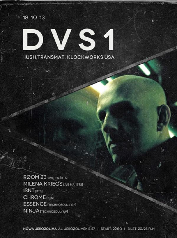 Koncert DVS1, plakat (źródło: mat. prasowe)
