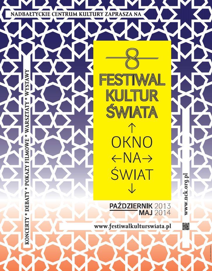 Festiwal Kultur Świata Okno na Świat, plakat (źródło: mat. prasowe Nadbałtyckiego Centrum Kultury)