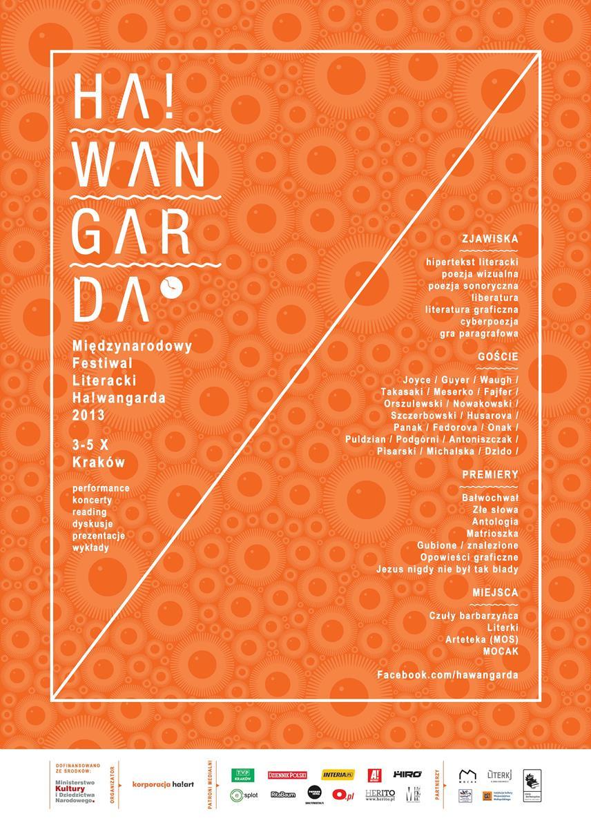 Międzynarodowy Festiwal Literacki Ha!wangarda – plakat (źródło: materiały prasowe)