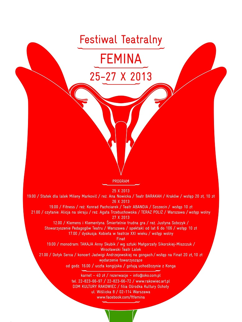 Festiwal Teatralny Femina, plakat (źródło: mat. prasowe)