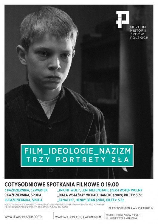 """""""Film – ideologie – nazizm. Trzy portrety zła""""– plakat (źródło: materiały prasowe)"""