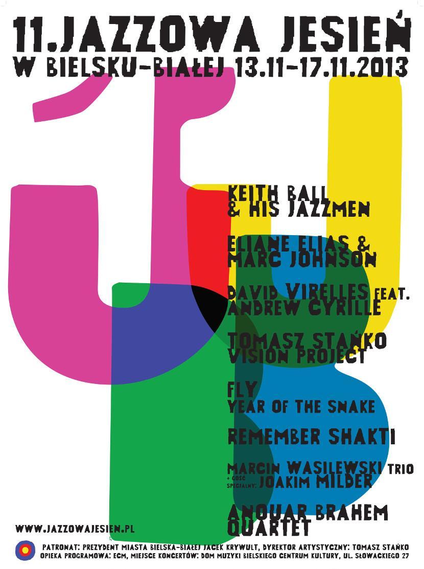 XI Jazzowa Jesień w Bielsku-Białej: Na Południe od Zachodu - plakat (źródło: materiały prasowe)