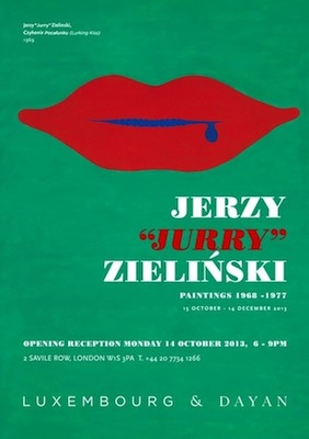 Plakat wystawy prac Jurry'ego Zielińskiego w Galerii Luxembourg and Dayan w Londynie (źródło: materiały prasowe organizatora)