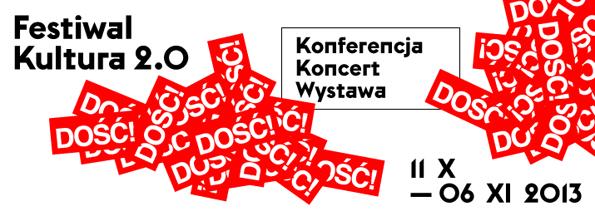 Plakat Festiwalu Kultura 2.0. w Warszawie (źródło: materiały prasowe organizatora)