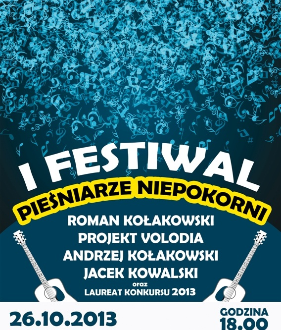 Festiwal Pieśniarze Niepokorni, plakat (źródło: mat. prasowe)