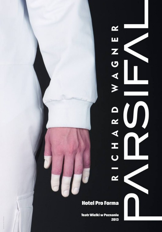 """""""Parsifal"""", plakat Hotel Pro Forma: Magda Ośko, Maciej Bogunia, Blanka Tomaszewska (źródło: mat. prasowe)"""