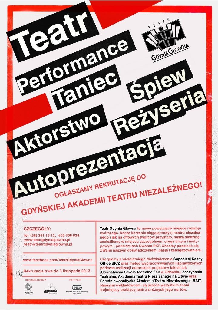 Rekrutacja do Gdyńskiej Akademii Teatru Niezależnego (źródło: mat. prasowe)