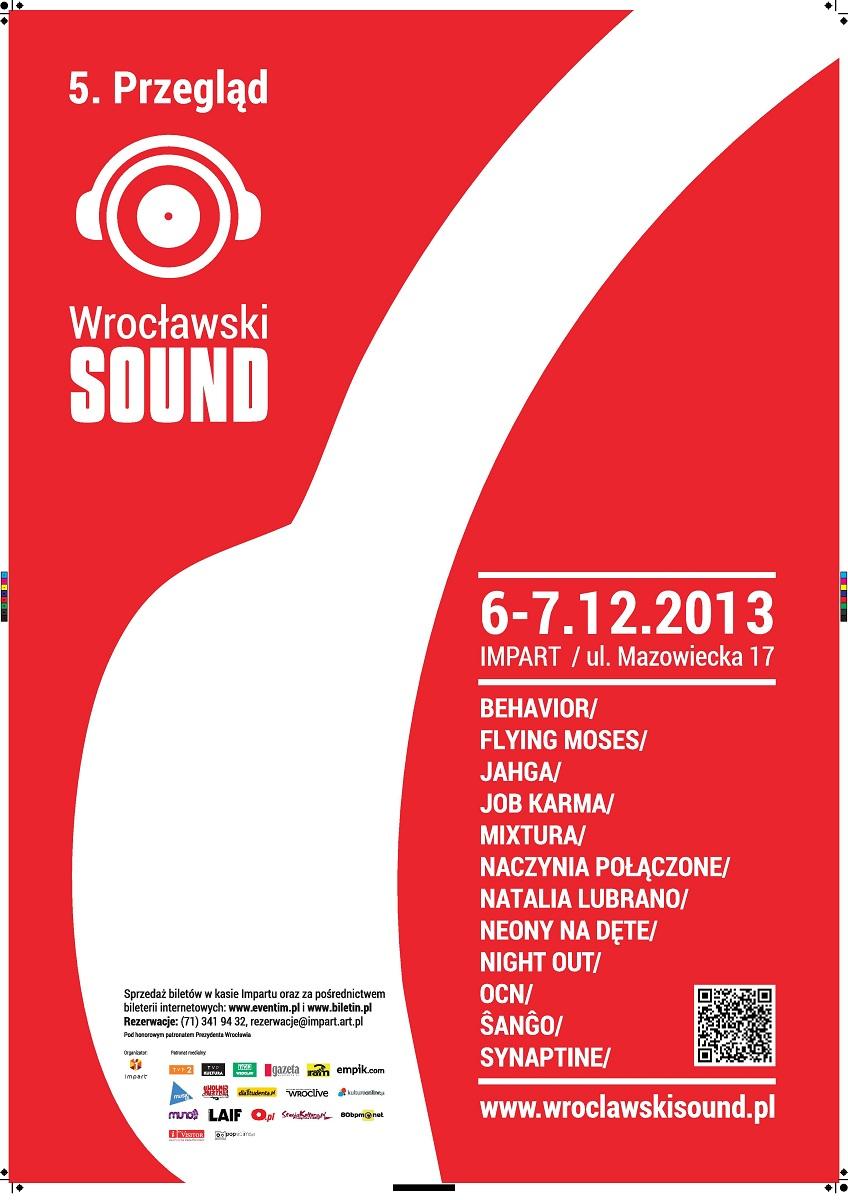 Wrocławski Sound, plakat (źródło: mat. prasowe)