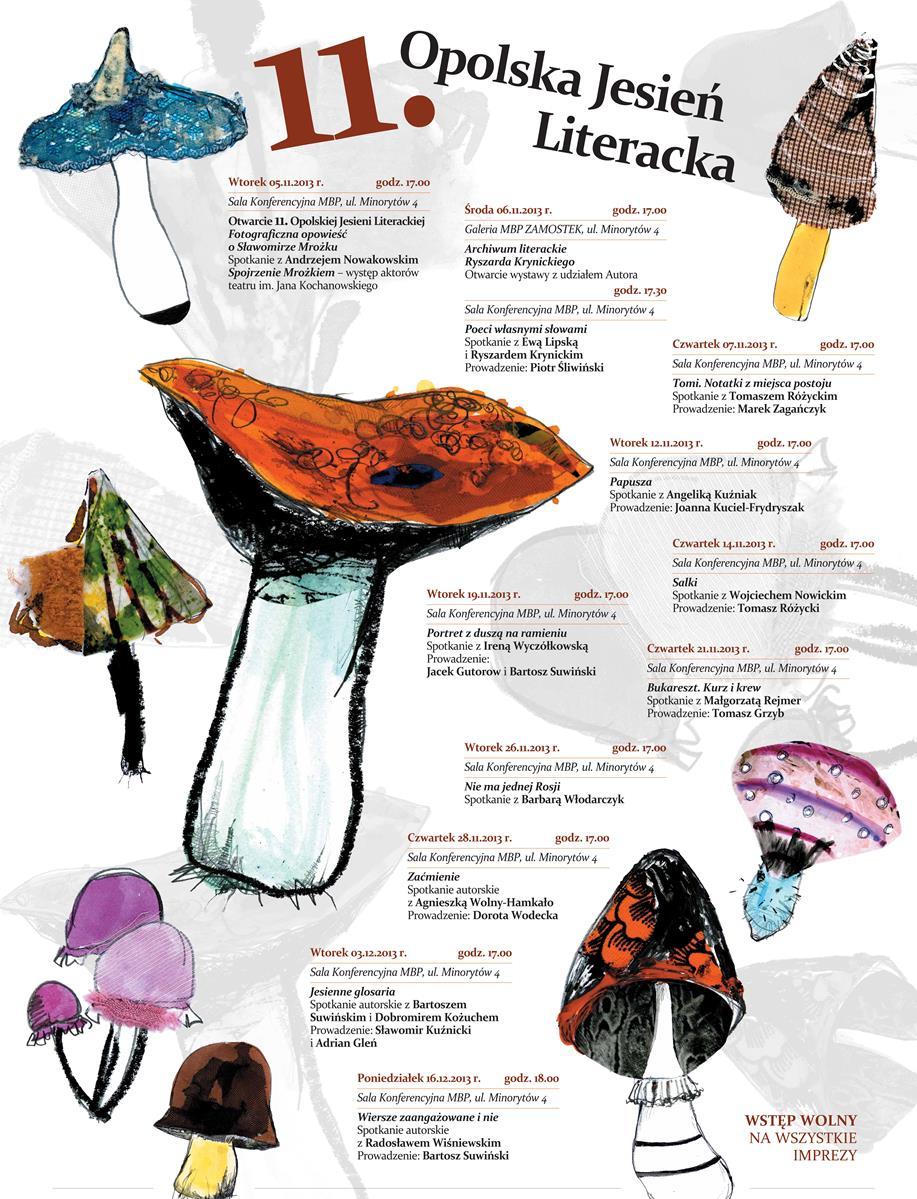 XI Opolska Jesień Literacka – plakat (źródło: materiały prasowe)