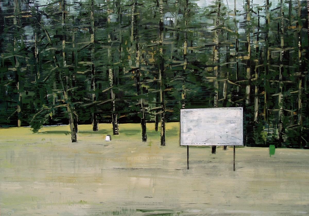 """Adam Adach, """"Bez tytułu"""" (""""Treblinka""""), 2003–2004, olej na płótnie, KiCo Collection, Bonn, dzięki uprzejmości Galerie nächst St. Stephan Rosemarie Schwarzwälder, Wiedeń (źródło: materiały prasowe organizatora)"""