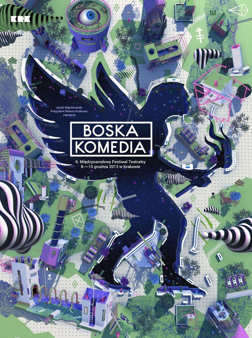 Boska Komedia 2013, plakat (źródło: mat. prasowe)