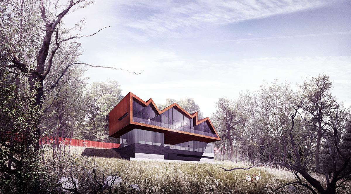 Dom Artysty w Konarach, BXBstudio, wizualizacja (źródło: materiały prasowe)