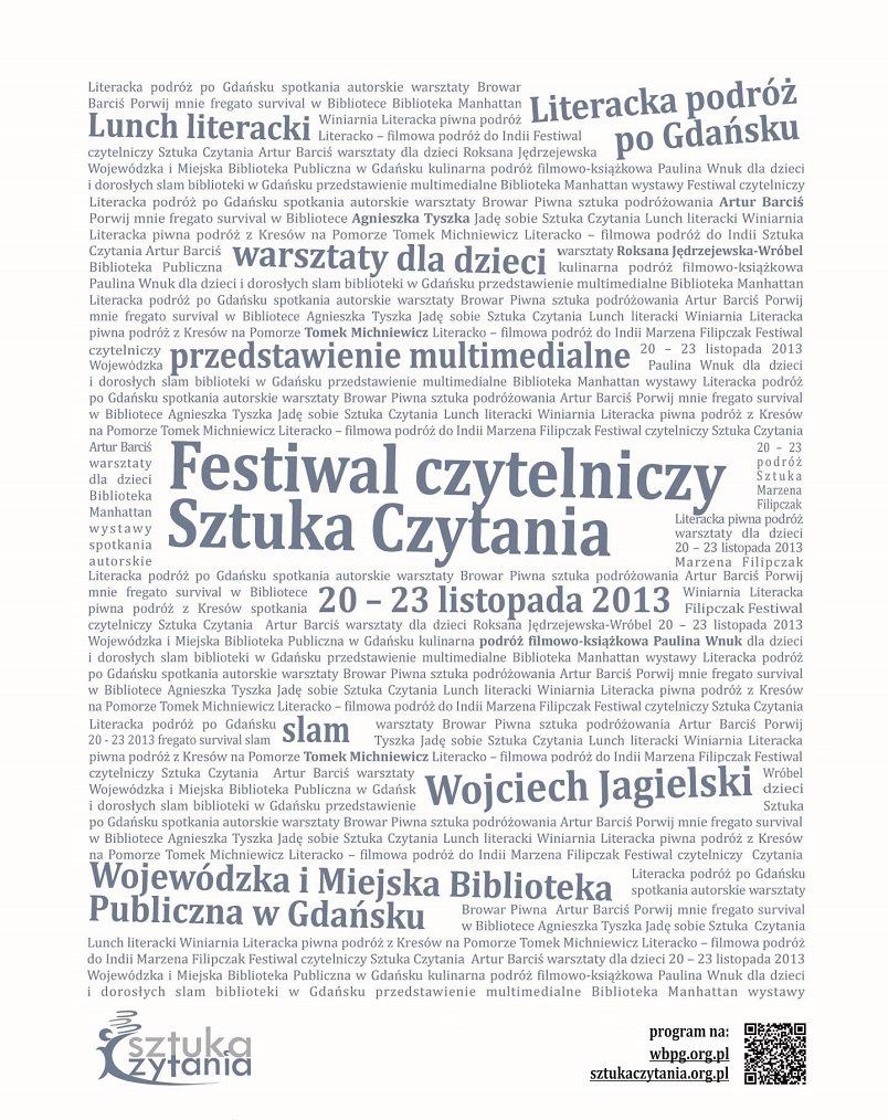 II Festiwal Czytelniczy Sztuka Czytania – plakat (źródło: materiały prasowe)