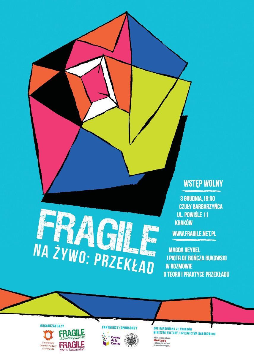 """""""Fragile na żywo: przekład"""" (źródło: materiały prasowe)"""