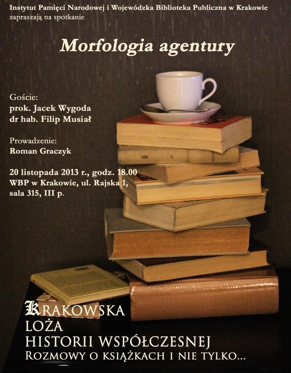 """""""Morfologia agentury"""" – plakat (źródło: materiały prasowe)"""